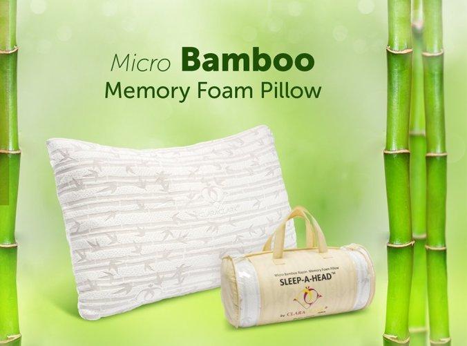 clara-clark-bamboo-memory-foam-pillow